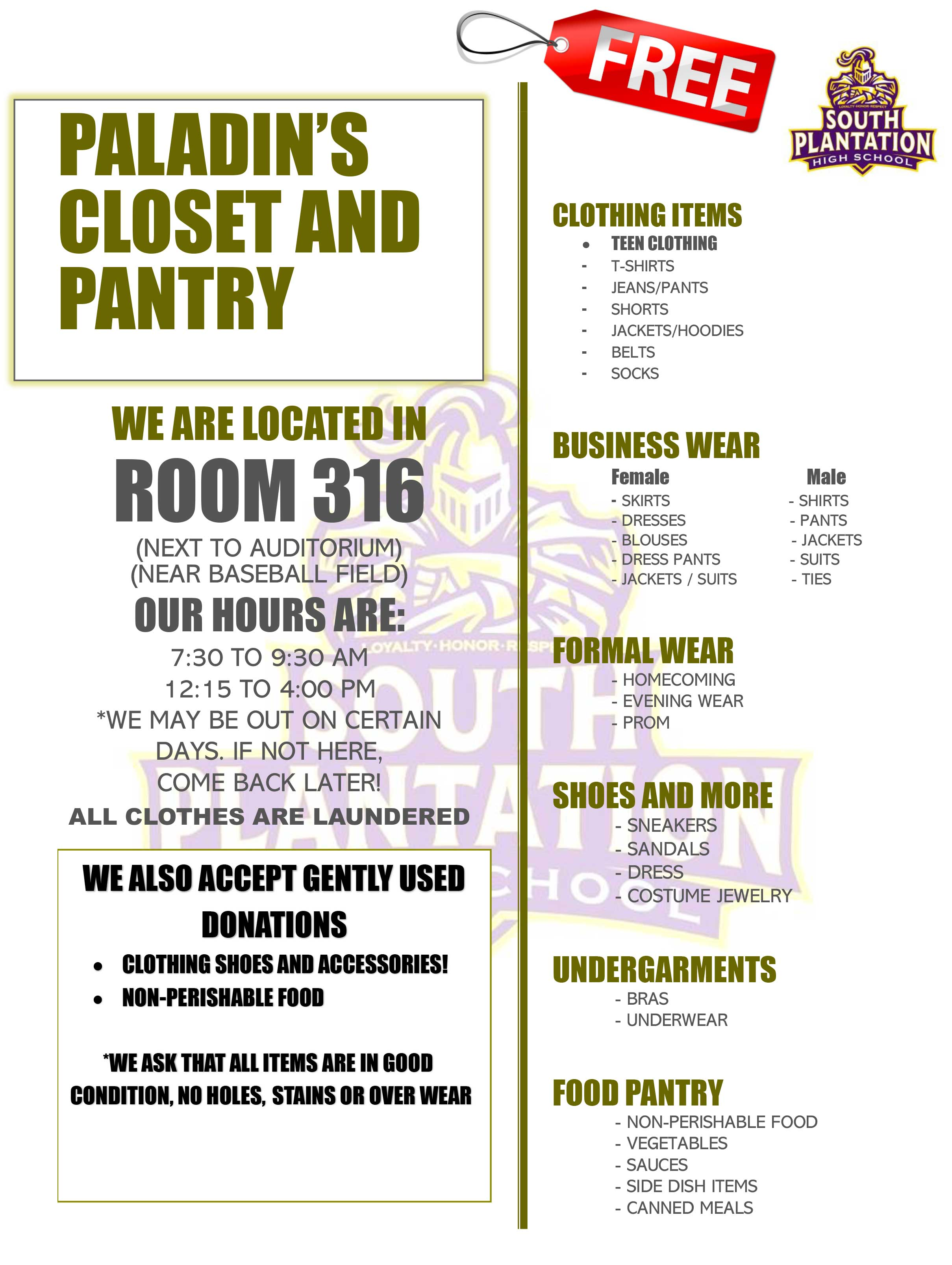 Paladin's Closet and Pantry