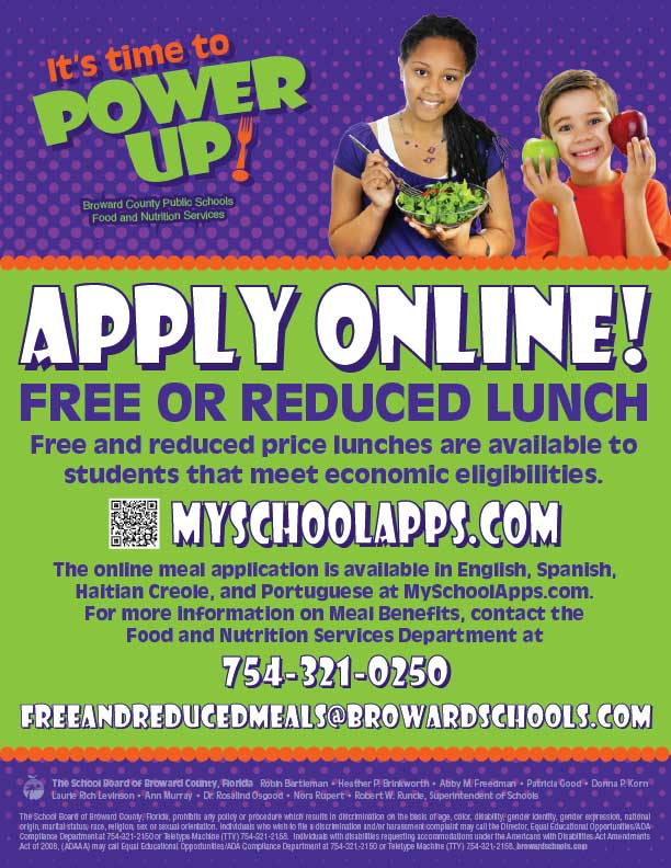 Free or Reduced Lunch Flyer