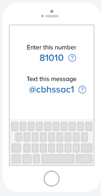 Join the remind app, text @cbhssac1 to 81010