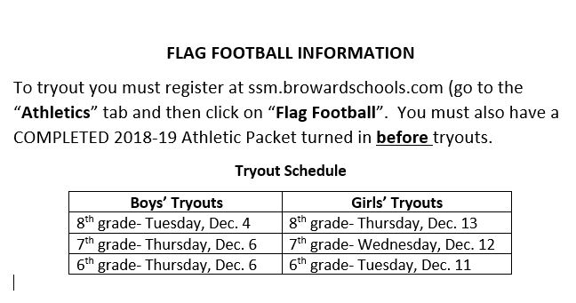 Flag Tryout Info