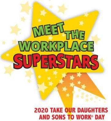 Take our daughter's and son's work day yellow star logo