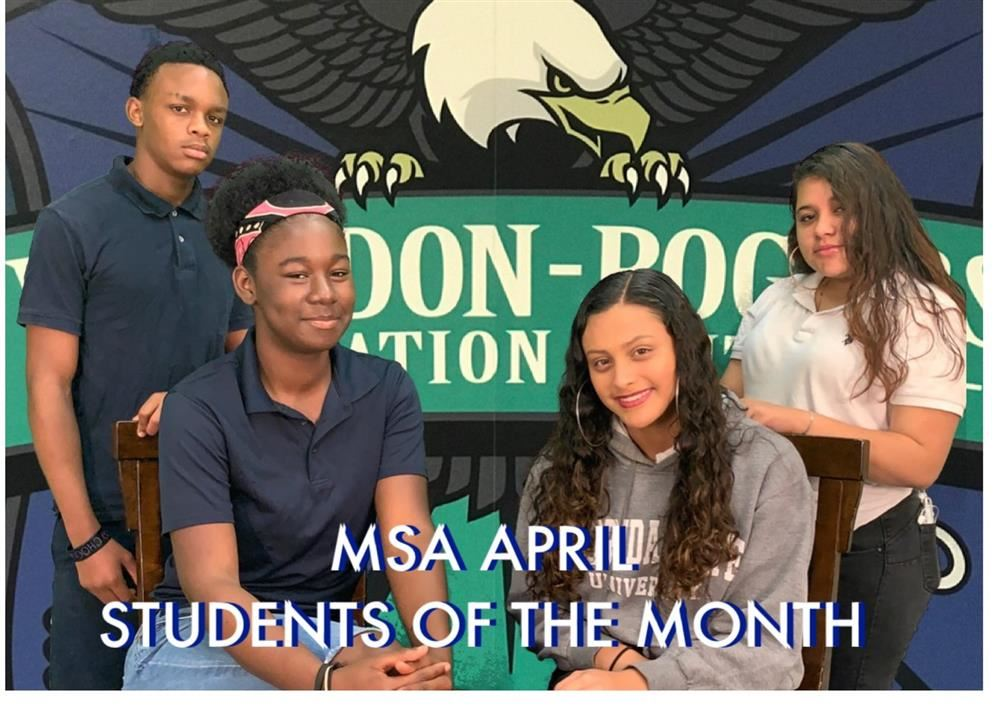 MSA April Students of the Month