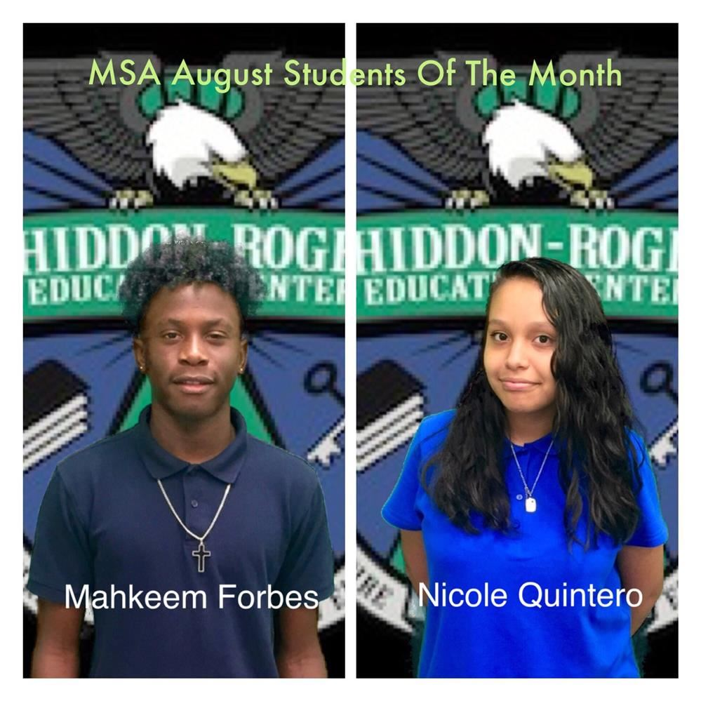 MSA August Students of the Month