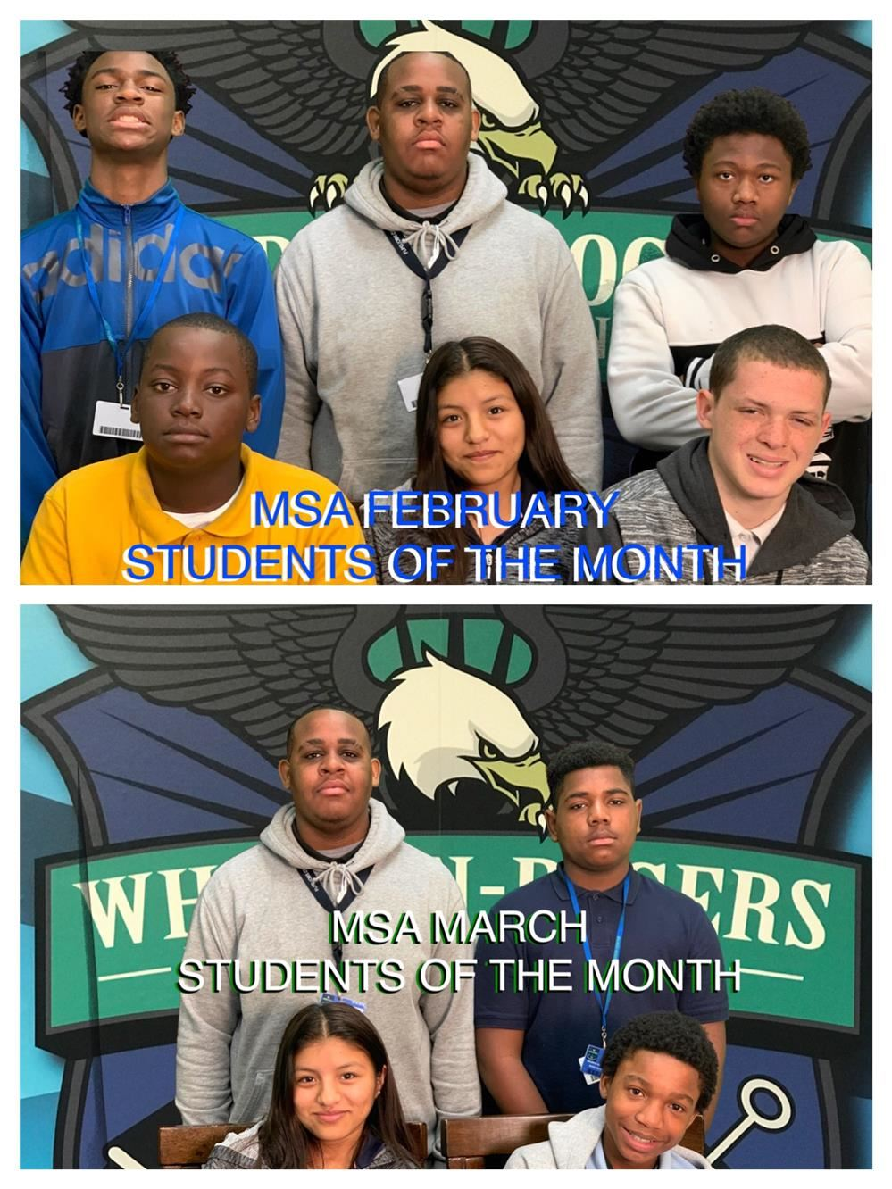 MSA February and March Students of the Month