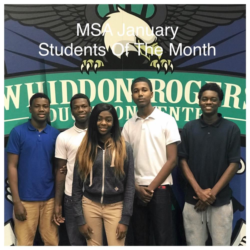 MSA January Students of the Month