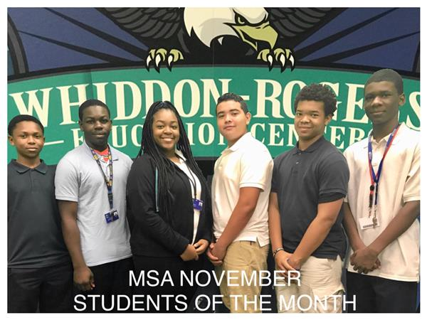 MSA November Students of the Month