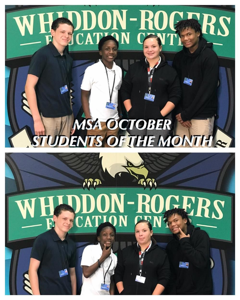 MSA October Students of the Month