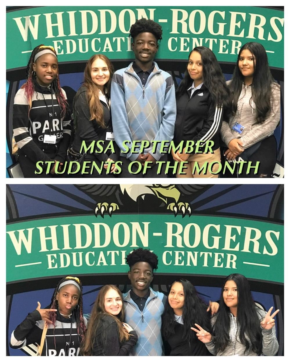 MSA September Students of the Month