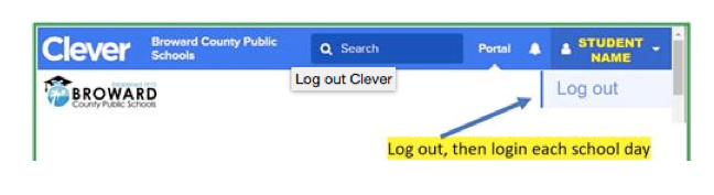 Clever - Log Out