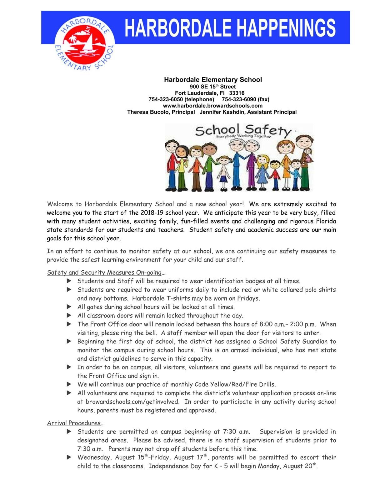 Saftey Newsletter 1