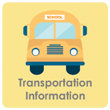 Important transportation and student bus stop information.