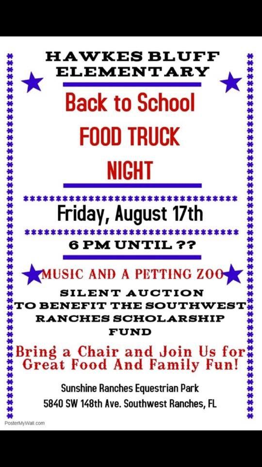 HBE PTA Welcome Back Food Truck Event