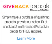 Office Depot Give Back to Schools Program