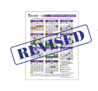 School Board Approves Minor Revisions to the 2020/21 School Calendar.