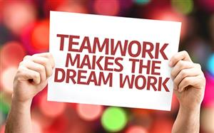 Teamwork Makes The Dream Work Logo