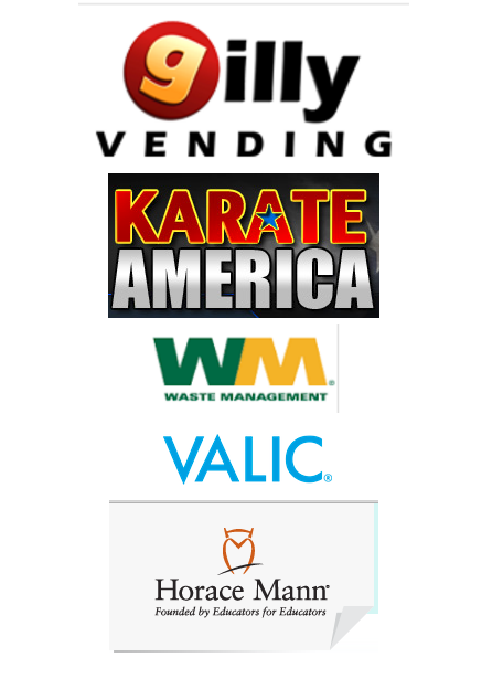 Our partners in education Valic, Horace MannGilly Vending, Karate of America, Waste Management
