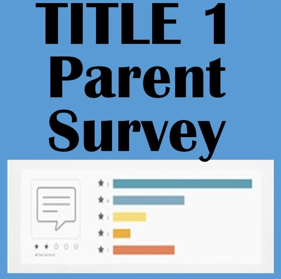 Graphic stating Title One Parent Survey