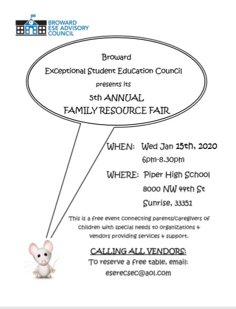 Family Resources Fair