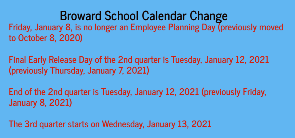 Bcps Calendar 2021-22 Broward County Public Schools / Calendar