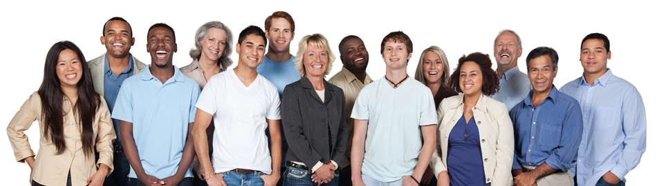 Stock image of a group of employees