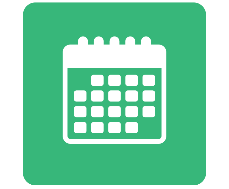 Clipart image of a monthly calendar