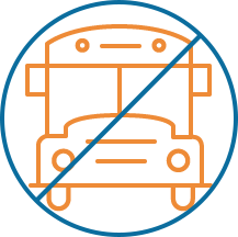 no transportation bus icon