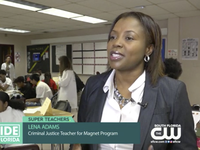 The CW Inside South Florida Spotlights Hallandale High School Super Teacher Lena Adams