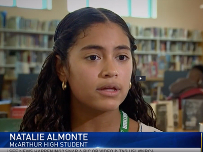 See why McArthur High School's Natalie Almonte is a Student Working at Greatness